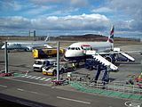 Aircraft stands at Edinburgh Airport.jpg