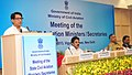 Ajit Singh addressing the Conference of Aviation Ministers of State Governments, in New Delhi on September 10, 2013. The Minister of State for Civil Aviation, Shri K.C. Venugopal is also seen.jpg