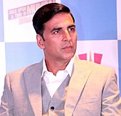 A serious-looking Akshay Kumar