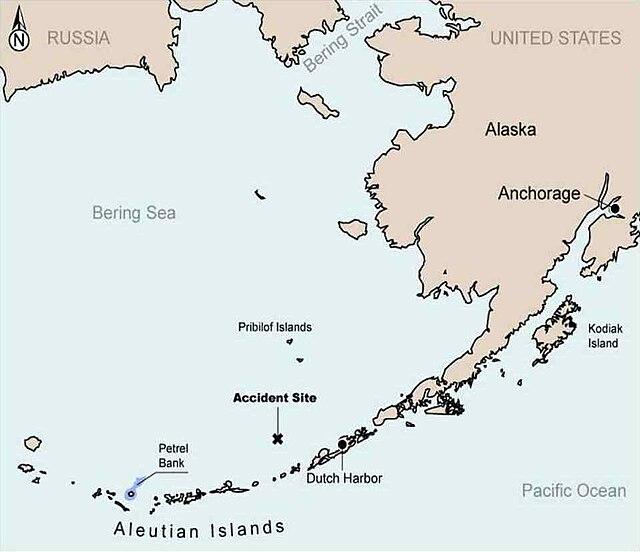 Alaska Ranger sinking site