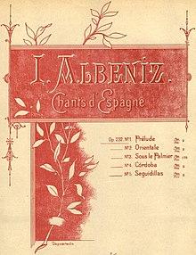 Umschlag von Isaac Albéniz Chants d'Espagne (1898)