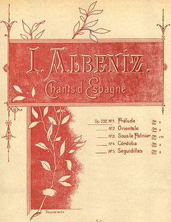 <i>Chants dEspagne</i> suite of piano pieces by Isaac Albéniz