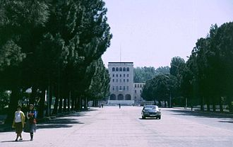 Tirana - The city in 1991.