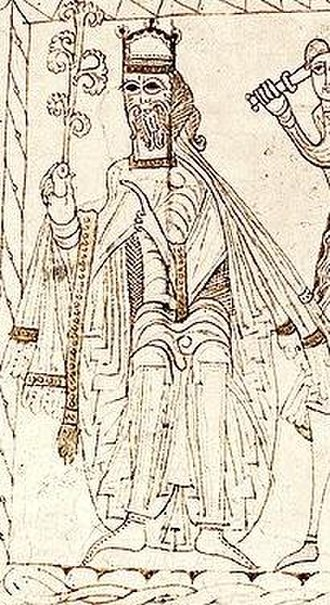 Alfonso VII of León and Castile - Alfonso as Emperor, from a Privilegium Imperatoris issued by him.