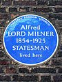 Alfred LORD MILNER 1854-1925 STATESMAN lived here.jpg