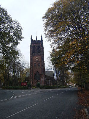 Grade I listed churches in Merseyside - Image: All Hallows Church, Allerton. geograph.org.uk 1556071