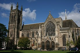 All Saints' Church Leamington Spa, from the churchyard 2012.jpg