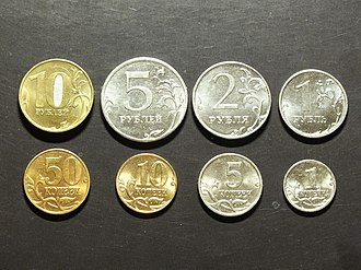 Economy of Russia - Coins of Russian ruble