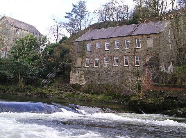Allt-y-Cafan Mill and Weir, Pentrecwrt