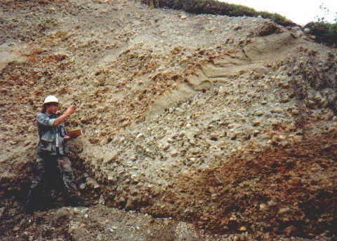 Alluvial Gravels at the Blue Ribbon Mine Alaska