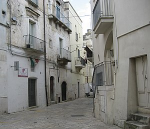 Altamura - View of a street in the old town