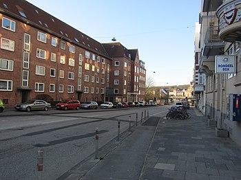 Blick vom Sophienblatt in Richtung Barkauer Kreuz