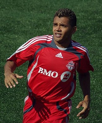 Amado Guevara - Guevara playing for Toronto FC in 2008