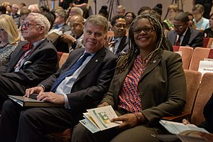 Meredith Evans (archivist) - Meredith Evans with David S. Ferriero, Archivist of the United States