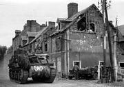 American tank in Carentan
