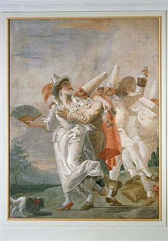 Pulcinella - Image: Amorous Punchinello (Pulcinella innamorato)