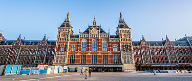 Amsterdam Centraal station, the city's main train station Amsterdam Central Station1.jpg