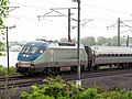 Amtrak 656 leading a Northeast Regional through Stonington, CT, May 2012.JPG