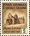 Ancona, cattedrale di S. Ciriaco - francobollo della Repubblica Sociale Italiana.jpg
