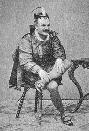 Svenska: Anders Willman (1834-1898) som Mefist...