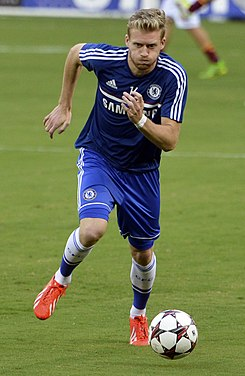 André Schürrle Chelsea vs AS-Roma 10AUG2013.jpg