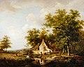 Andreas Schelfhout - Landschap met rechts een boerderij tussen hoge bomen - 2096 (OK) - Museum Boijmans Van Beuningen.jpg