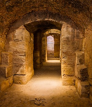 Commons:Featured pictures/Places/Architecture  * Info Hypogeum of the Amphitheatre of El Jem, an archeological site in the city of El Djem, Tunisia.