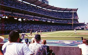 2001 Major League Baseball season - The Anaheim Angels hosting the season's eventual American League Champions New York Yankees in August 2001 at Edison Field.
