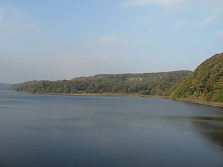 Anglezarke Reservoir lake in the United Kingdom