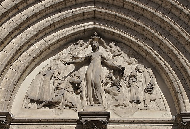 10th place: Tympanum of Obézine church, Angoulême, by JLPC