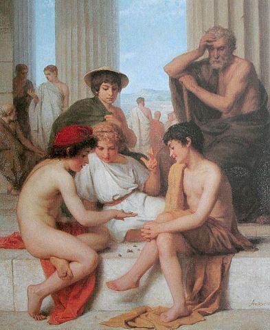 Joueurs de dés presques nus