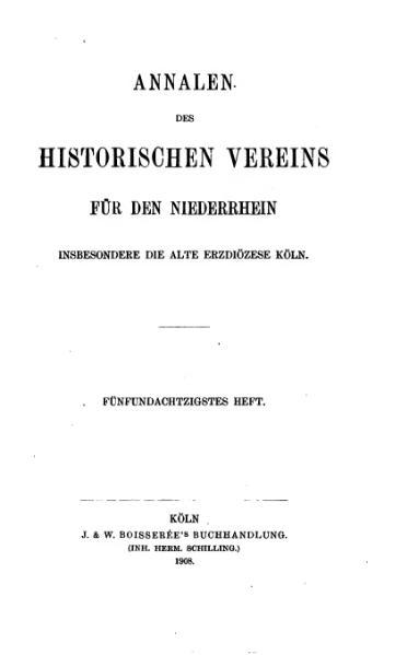 File:Annalen des Historischen Vereins für den Niederrhein 85 (1908).djvu