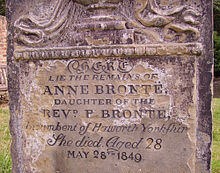 Anne Brontes Grave in Scarborough 02.JPG