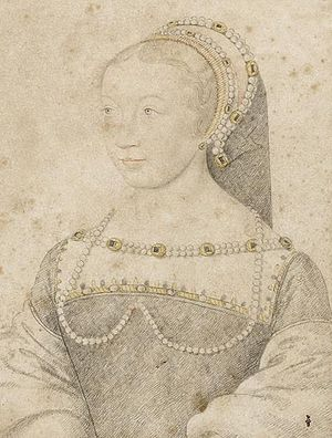 Anne de Pisseleu d'Heilly - Sketch of Anne by François Clouet.