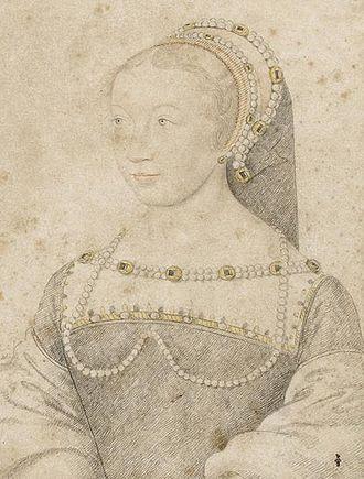 Anne de Pisseleu d'Heilly - Sketch of Anne by François Clouet.