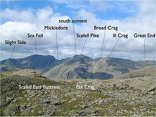 Southern Fells group of hills in the English Lake District