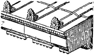 Antefix - Antefixes in position