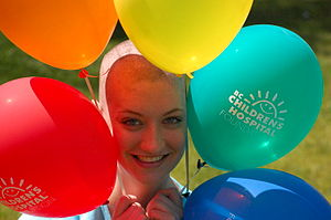 English: Shaving head to campaign for cancer f...