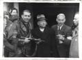 Anton Mussert arrested at Korte Vijverberg (street) in The Hague. 1945.png