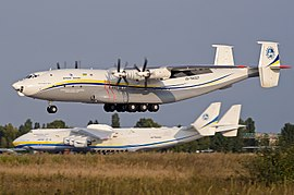 Antonov An-22 landing at Gostomel Airport.jpg