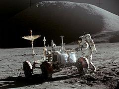 Apollo 15 Lunar Rover and Irwin