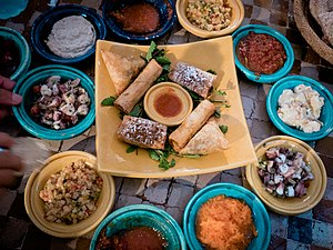 Arab cuisine - A selection of Arab mezze