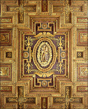 English: ceiling of Santa Maria in Aracoeli, Rome.