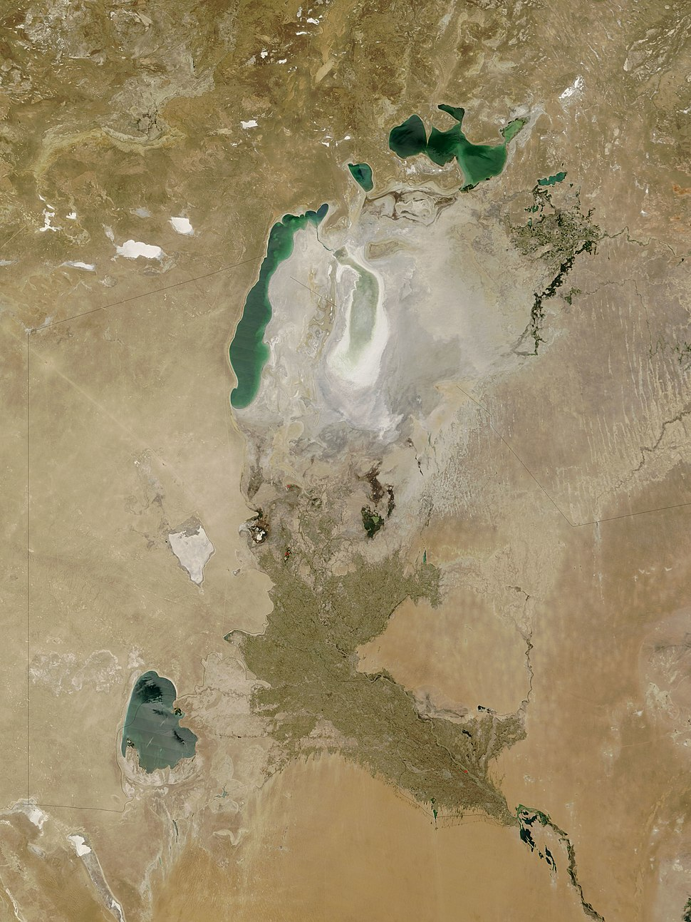 The Khwarazm oasis on a satellite image from 2009
