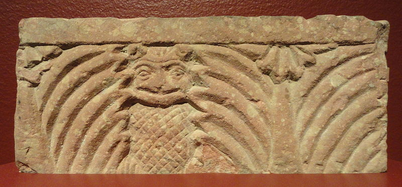 File:Architectural fragment with owl and palm design, Mathura, Northern India, 2nd century AD, sandstone - San Diego Museum of Art - DSC06348.JPG