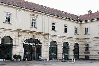 Architekturzentrum Wien - Entrance to the museum.