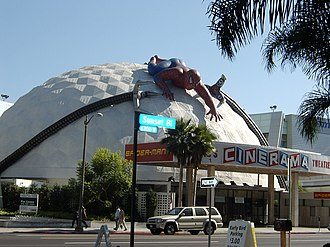 Cinerama Dome - The ArcLight Cinerama Dome decorated for Spider-Man 2 in 2004