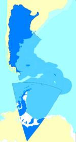 Argentine map of Argentina