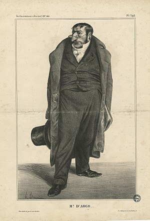 Antoine Maurice Apollinaire d'Argout - Caricature of the Comte d'Argout by Honoré Daumier.