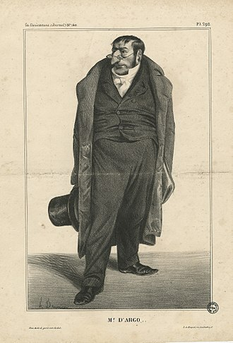 Antoine Maurice Apollinaire d'Argout - Caricature of the Comte d'Argout by Honoré Daumier.
